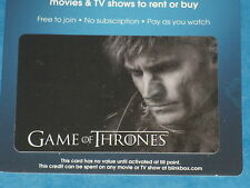 Game Of Thrones:  JAMIE LANNISTER Collectible Plastic Top-Up Card UK Exclusive