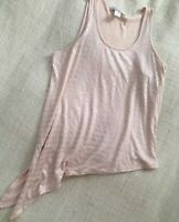 Women's Large L Kelly Renee Metallic Sold Shimmer Tie Side Tank Top Asymmetrical