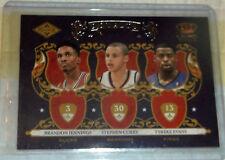 2009-10 Panini Crown Royale Royalty #1 Jennings, Stephen Curry & Evans Rookie
