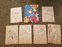 X space patrol 60s Japanese Anime Coloring Sheets in colorful frameable bag
