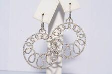 $10,700 2.46Ct Natural Diamond Cluster Earrings 18K White Gold