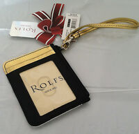 New Rolfs Ladies Genuine Leather Wristlet Card Holder Wallet Purse Gift for her