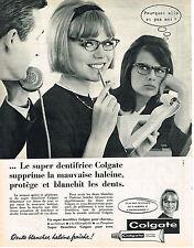 PUBLICITE ADVERTISING  1962   COLGATE  dentifrice supprime la mauvaise haleine