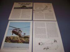 VINTAGE..SIKORSKY UH-60A BLACK HAWK..CUTAWAY/SPECS/3-VIEWS..RARE! (955A)