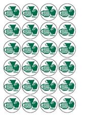 "30 x Macmillan Coffee Morning 1.5"" PRE CUT Edible Rice Paper Cup Cake Toppers"
