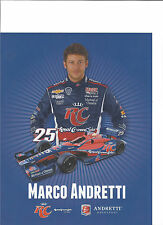 "2013 INDY 500 MARCO ANDRETTI USA ANDRETTI AUTOSPORT INDYCAR 8""X10"" HERO CARD"
