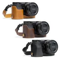 "MegaGear ""Ever Ready"" Leather Camera Case for Sony Alpha a6300 ILCE_6300, a6000"