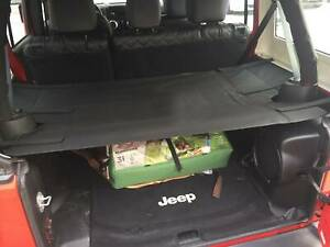 Rear Trunk Shade Cargo Cover Shield For 4 Dr Jeep Wrangler JK Unlimited 2007-18