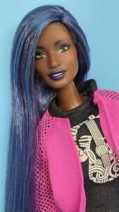 Custom Barbie BMR1959 Doll AA Blue Purple Hair Reroot Galaxy Made to Move ooak