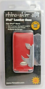 Rhino Skin iPod Nano 1st & 2nd Generation Red Sheepskin Leather Flip Case