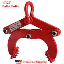 1T/2T Pallet Puller Forklift Jack Warehouse Pulling Grip Attachment Pallet Clamp
