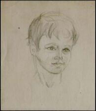 Dessin du XXe siècle et contemporains portrait, autoportrait pour Art déco