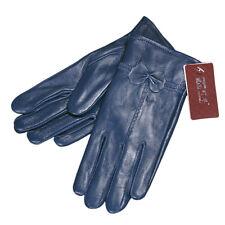 Lady Women's Winter Warm Genuine Lambskin Leather Driving Soft Lining Gloves