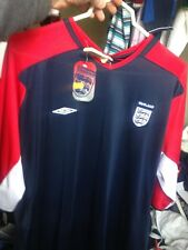ENGLAND  TRAINING 2002/4 shirt IN SM/MED LA ROR X/L  IN NAVY/OR WHITEAT £8