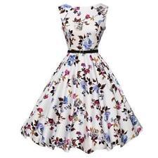 Polyester Floral Sleeveless Dresses for Women