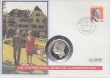 Numisbrief der Monarchien  Luxemburg  Großh. Jean  250 Fr.   Silber  1995