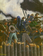 THE ALAMO DEATH OF WILLIAM BARRET TRAVIS ART PRINT 2