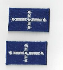 2 x  SMALLER EUREKA FLAG IRON ON size 4.5 x 2.5 cms