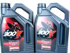 Motul 300V 10W40 Aceite para Motos Factoría Line Road Carreras Deporte de 4T 2x