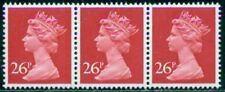 Great Britain Sg-X971 Type 1, Scott # Mh-130 Strip/3, Mint, Og, Nh, Great Price!
