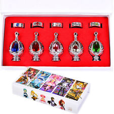 Anime Cosplay Puella Magi Madoka Magica Soul Gem 5 Necklace 5 Rings