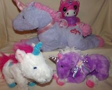 Plush Stuffed Unicorn LOT OF 4 Walking Amazimals / Ball Pets / Best Made Toy