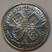 HIGHLY POLISHED SILVER FLORIN CHOICE OF DATE 1920-1946 PERFECT BIRTHDAY PRESENT