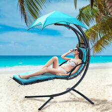 PATIO GARDEN HAMMOCK HELICOPTER DREAM SWING CHAIR SEAT SUN LOUNGER +CUSION GREEN
