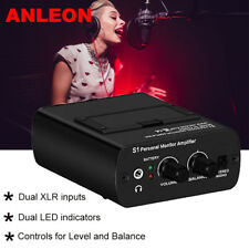ANLEON S1 In-Ear Monitor Personal Headphone Amp IEM System For Vocalist Drummers