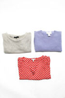 Design History Joie Womens Cashmere Pullover Sweater Purple Tan Size S XS Lot 3