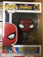 FUNKO POP AVENGERS INFINITY WAR IRON SPIDER Spiderman #287 VINYL FIGURE IN STOCK