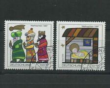 Christmas Set of 2 cto stamps 1997 Germany B825-6