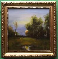 "Morning Sunrise : Original Impressionist Oil Painting Alan Dickson 8"" X 8"""