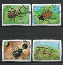 Insectes Laos (17) série complète de 4 timbres oblitérés