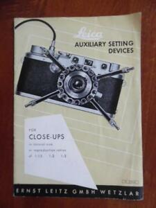 1952 Leica Camera Brochure Manual Auxiliary Setting Devices for Close-Up Vintage