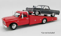 1967 CHEVROLET C-30 RAMP TRUCK RED 1:18 DIECAST MODEL CAR BY ACME A1801702