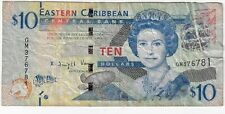 East Caribbean States 10 Dollars 2015 ND Issue Pick #52b Foreign World Banknote