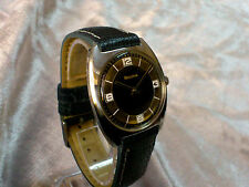 Bulova 1971 vintage manual wind watch 11AN Blue dial unusual distinctive rare