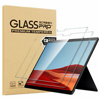 """(2 Pack) Microsoft Surface Pro X 13"""" 2019 Clear Tempered Glass Screen Protector"""
