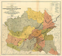 1884 Map Cherokee Nation of Indians Territorial Limits Native American Art Print