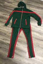 Jordan Craig Green And Red Jumpsuit Large Pants X-large Top