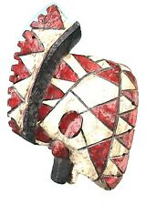 Art Africain Tribal Arts Premiers - Ancien Masque Mossi Oiseau - 28 Cms ++++++++