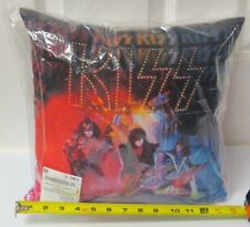 KISS UNMASKED THROW PILLOW 14x14 OFFICIAL 2016 - BEAUTIFUL COLORS!