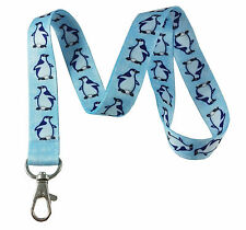 Cute Penguins Print Lanyard Key Chain Id Badge Holder