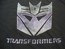 Transformers Autobots vs. Decepticons Animated TV Show Movie Black T Shirt 5XL