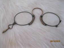Antique Reading Glasses with Neck Hook Spring Band Nose Piece ~*~*
