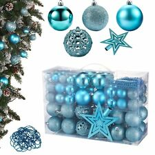 Christbaumschmuck In Form Kugel Material Kunststoff Farbe Blau Ebay