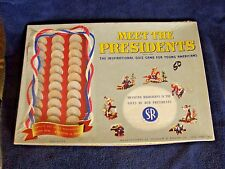 Meet the Presidents Board Game-Complete - Vintage 1953 Includes up to Eisenhower