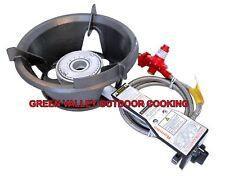Rambo High Pressure Gas Wok Burner Complete Regulator Hose 55mj LPG GAS