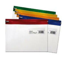 25x A5 Snopake Assorted Clear Zippa School Document Storage Wallet Zip Bags